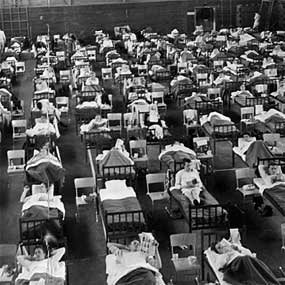 "1918 ""Spanish flu"" The most devastating flu pandemic in recent history."