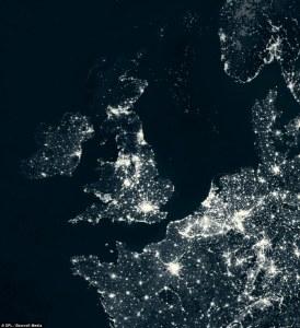 Northern Europe Satellite Map