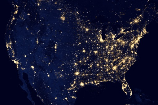 US Satellite Map - 2012
