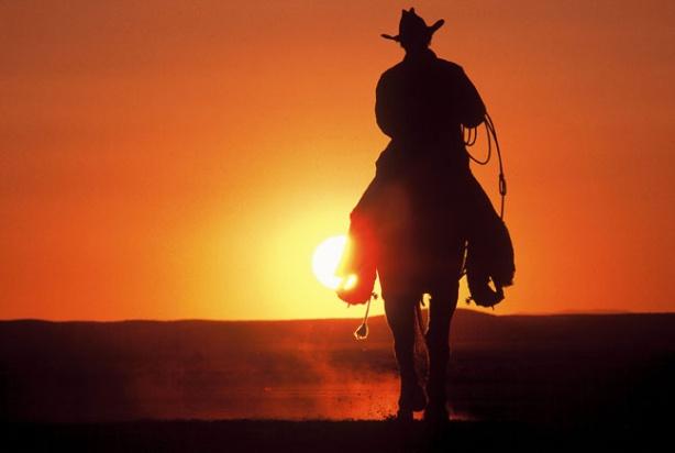 cowboy-sunset